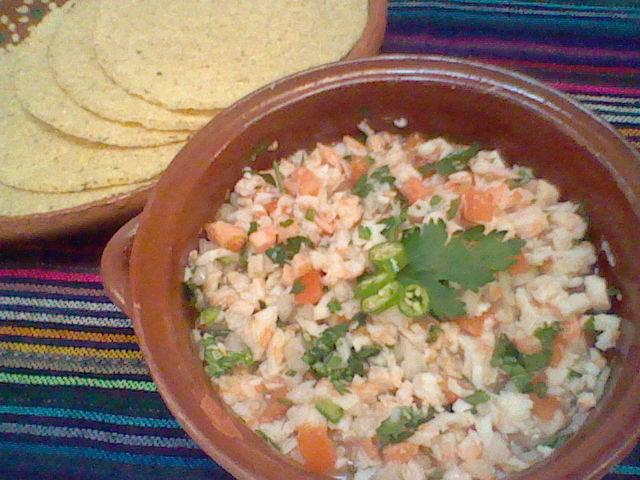 Ceviche de Camaron {Shrimp Ceviche} - La Cocina de Leslie