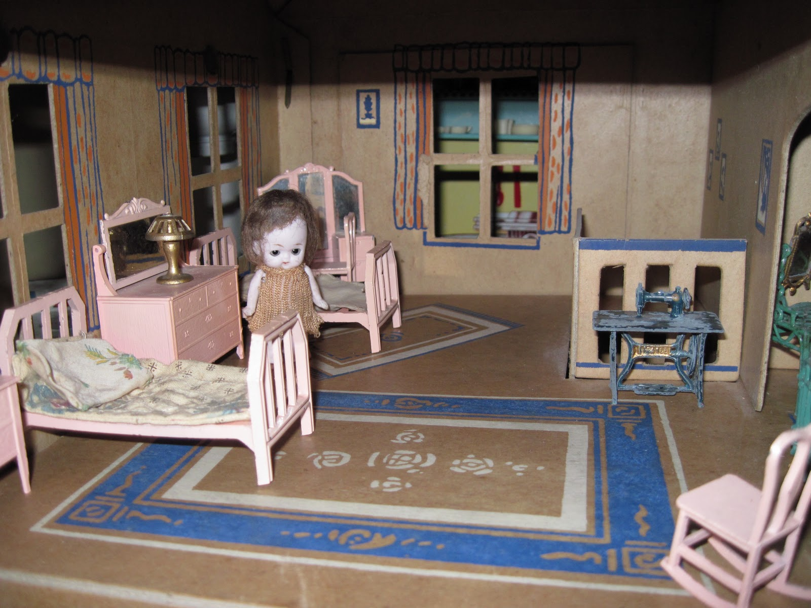 inexpensive dollhouse furniture. The Little 2 3/4 Inch Doll Was Original To House, And Is Of A Type Often Referred As \ Inexpensive Dollhouse Furniture