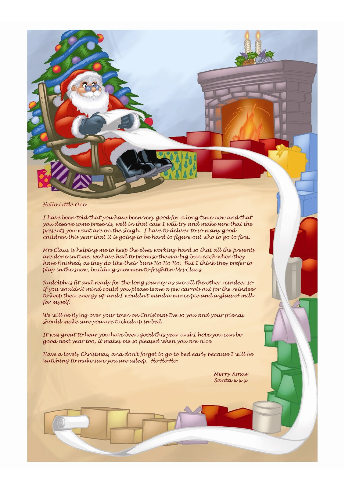 Pin Free Printable Letters From Santa Rental Agreements on Pinterest