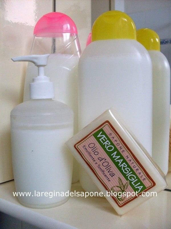 Sapone di marsiglia liquido fatto in casa