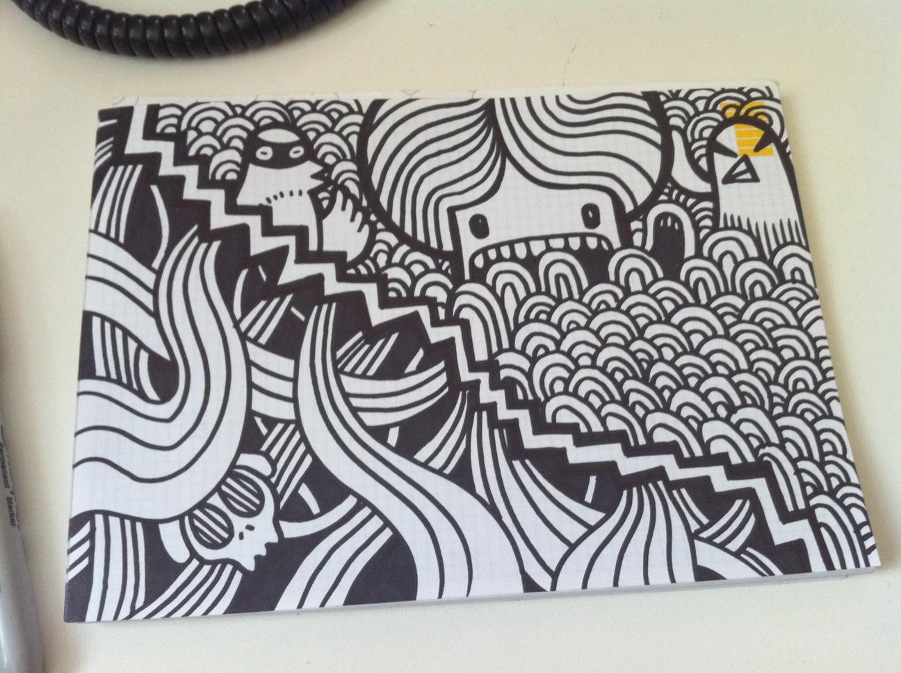wolf drawings easy