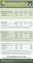 Tarifas de Ingreso al Parque Nacional Iguaçu (BR) en R$