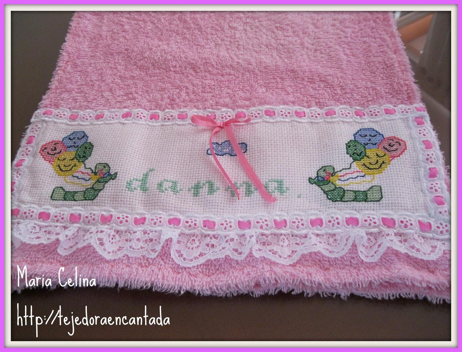tejedoraencantada toalla decorada como no se hacer las hojitas de