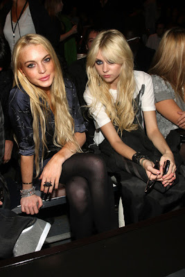 Lindsay Lohan and Taylor Momsen Get Up