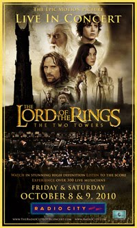 LORD OF THE RINGS RADIO CITY 2010 TICKETS