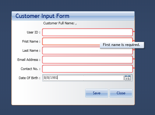 Validating user input wpf mvvm example