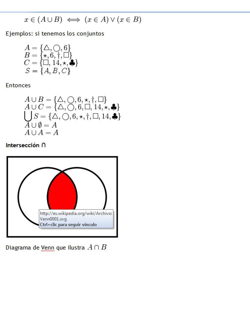 Teora de conjuntos teora de conjuntos es claro que el hecho de que un elemento x pertenezca a aub es condicin necesaria y suficiente para afirmar que x es un elemento de a o al menos de b es ccuart Image collections