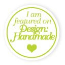 I am featured on Design:Handmade {Designer Profile}