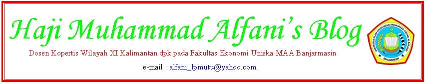 Haji Muhammad Alfani's Blog