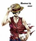 Monkey D. Luffy enfadado