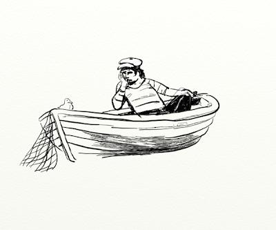 Kay Treysse on artrage3:trübe treibend: ein Fischer
