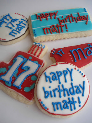 Cookies for a Birthday Boy