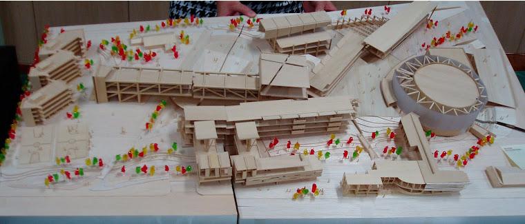 藝術高中校園整體規劃其他未得標之建築師參與投標之校園建築外觀俯視圖~2