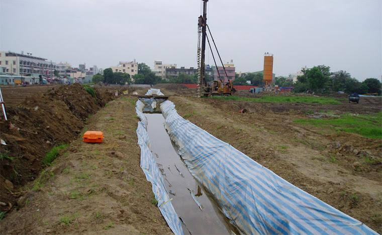 校地內原有水利會灌溉溝渠改道工程及地質鑽探工程~