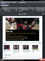 ESPN ScoreCenter iPad