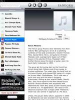 Pandora iPad