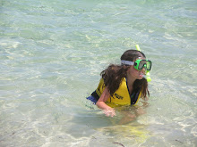Claire snorkeling for the first time
