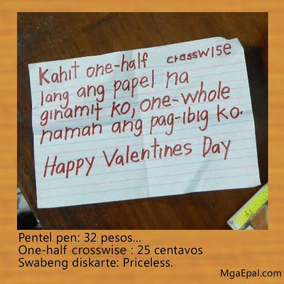 funny philippines, sweet, sweet letter, valentines day, valentines