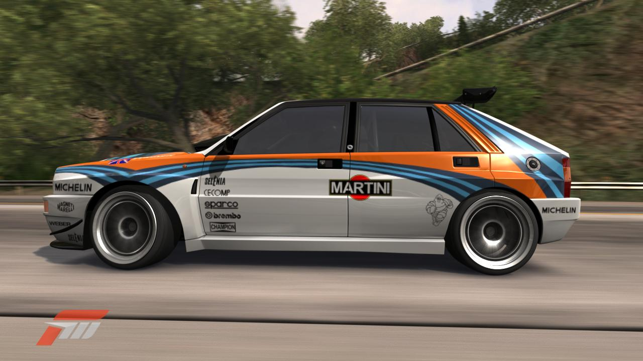 gamershoot forza 3 lancia delta integrale evo rally. Black Bedroom Furniture Sets. Home Design Ideas