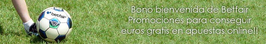 Bono Betfair 20€ para apuestas gratis