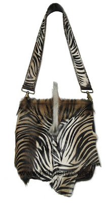 one-of-a-kind zebra guitar strap bag
