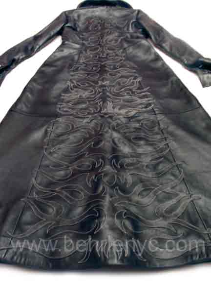 custom made leather coat