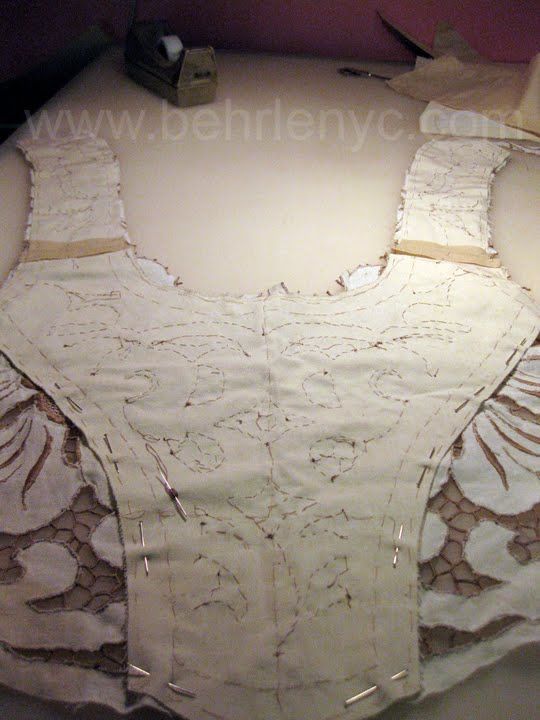 Behrle nyc now antique cutwork for Custom made wedding dresses nyc