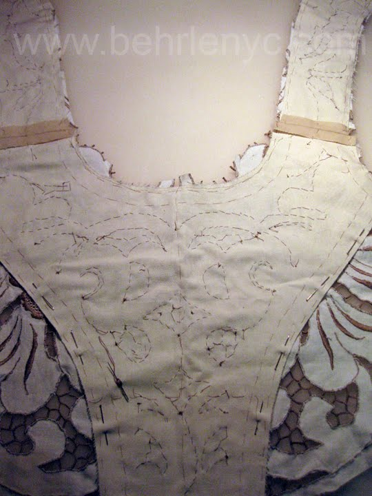 custom made wedding dress cutwork lace detail
