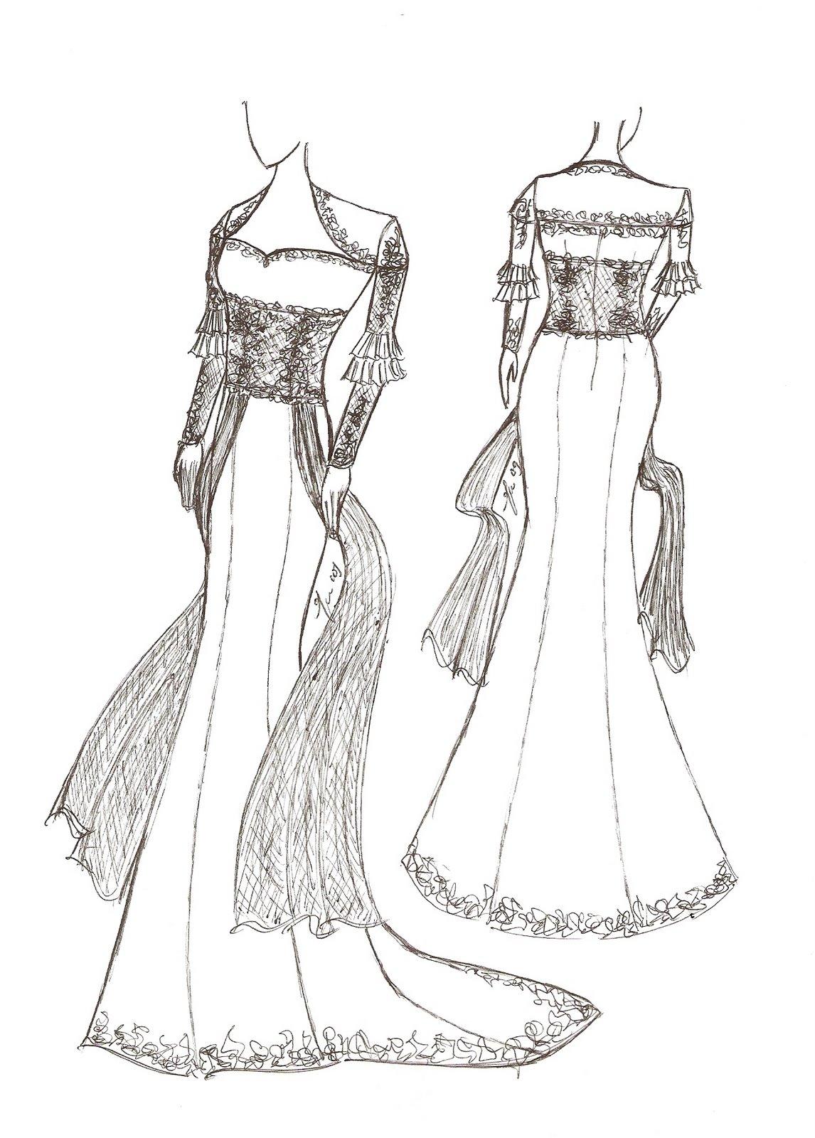 Fashion Holic Sketsa Baju