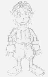 Big KK Chibi Sketch.