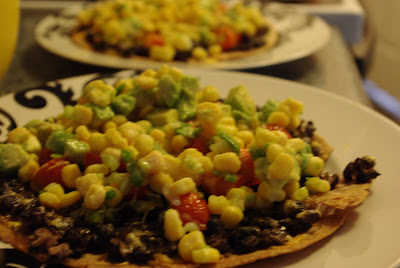 All Things Fancy: Black-bean Tostadas with Corn Relish