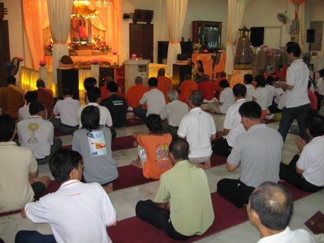 Chanting before Wesak Day