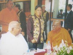 With the Sri Lankan Prime Minister Hon Ratnasiri Wickramanayake