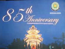Top cover of the 85th Anniversary Commemorative Magazine