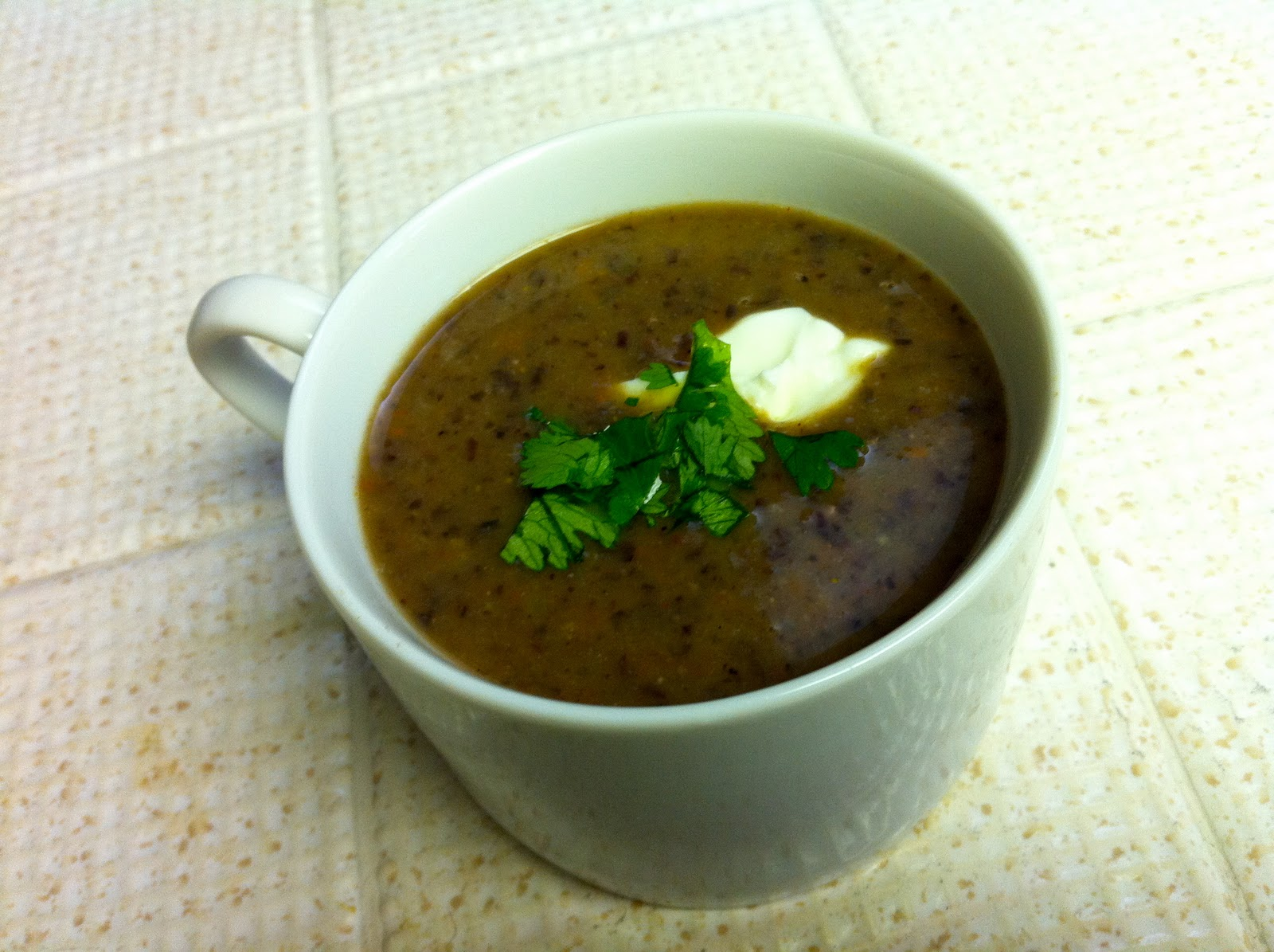 Foodie Journey: Quick Spicy Black Bean Soup