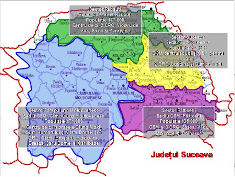 Sectorizare judet Suceava