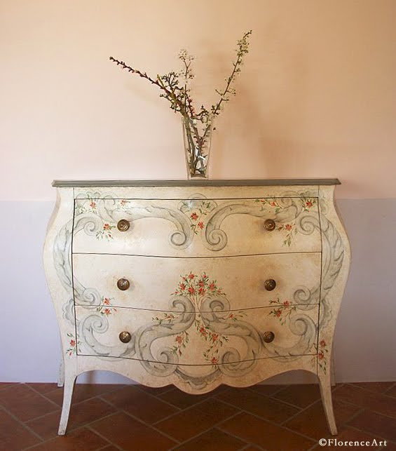 The Ornamentalist Florentine Furniture Painting: images of painted furniture