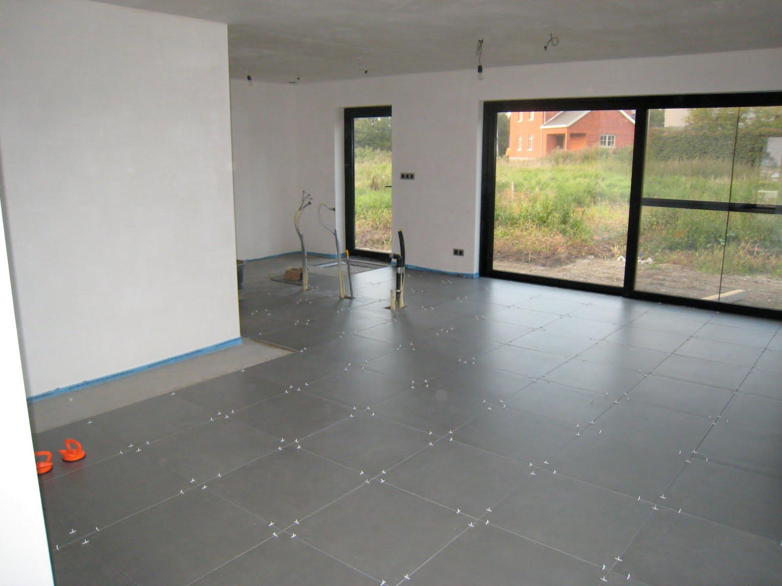 Ons toekomstige huis vloeren - Moderne betegelde vloer ...
