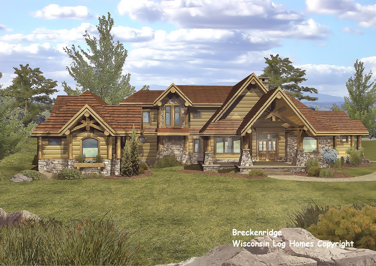 Log home floor plans by wisconsin log homes inc for Home builders wisconsin