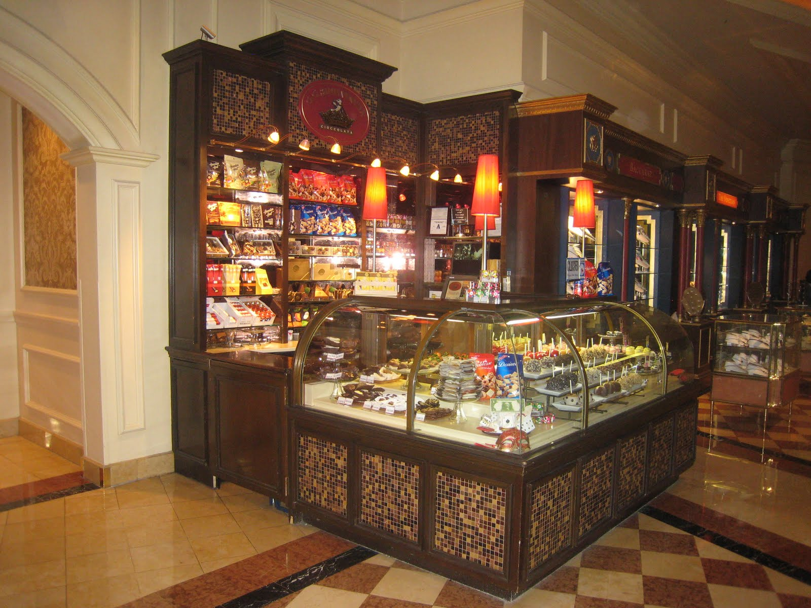Las Vegas: Venetian Hotel and Grand Canal Shops- Godiva and GG ...
