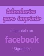 Calendarios para imprimir en facebook