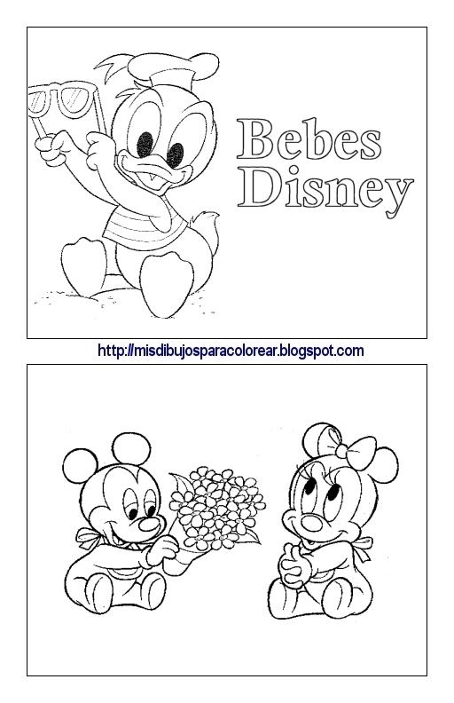 Dibujos de bebés Disney (1ª parte) : Mis dibujos para colorear