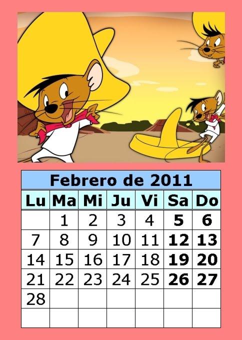 Calendario de dibujos animados de 2011 (1ª parte)