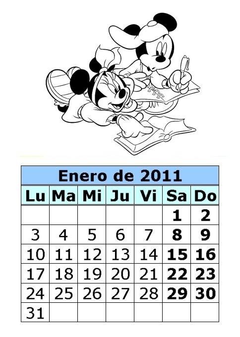 Calendario de dibujos para colorear de 2011 (1ª parte ...