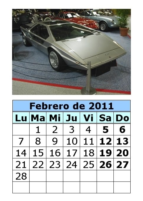 Calendario de coches clásicos