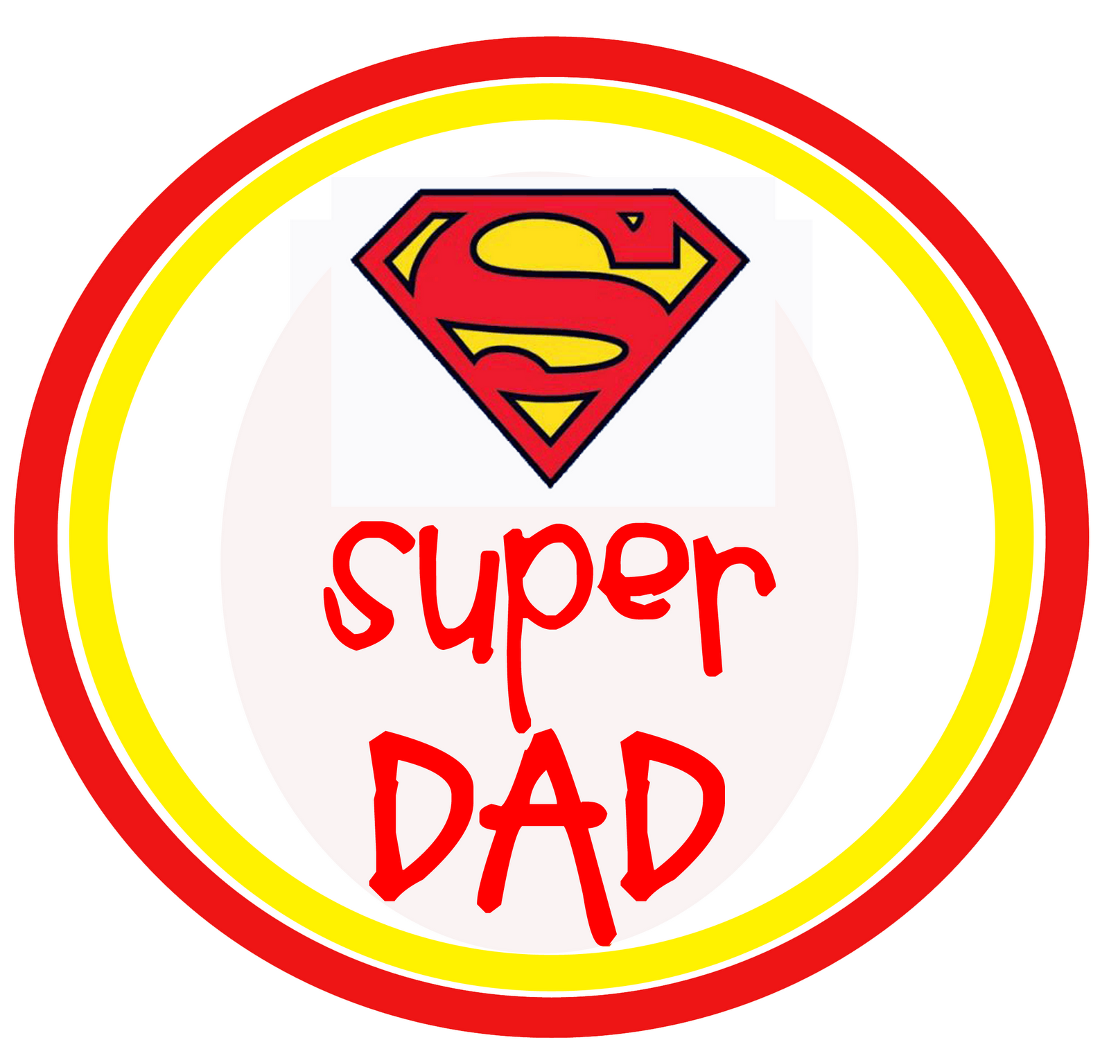 Fathers Day Superman Toppers Oopsey Daisy