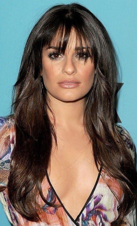 lea michele hair bangs. Lea Michele -- although I do