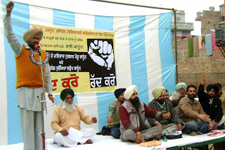 Protests against black laws, Punjab.