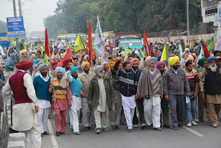 Protest against black laws, Bathinda, Punjab