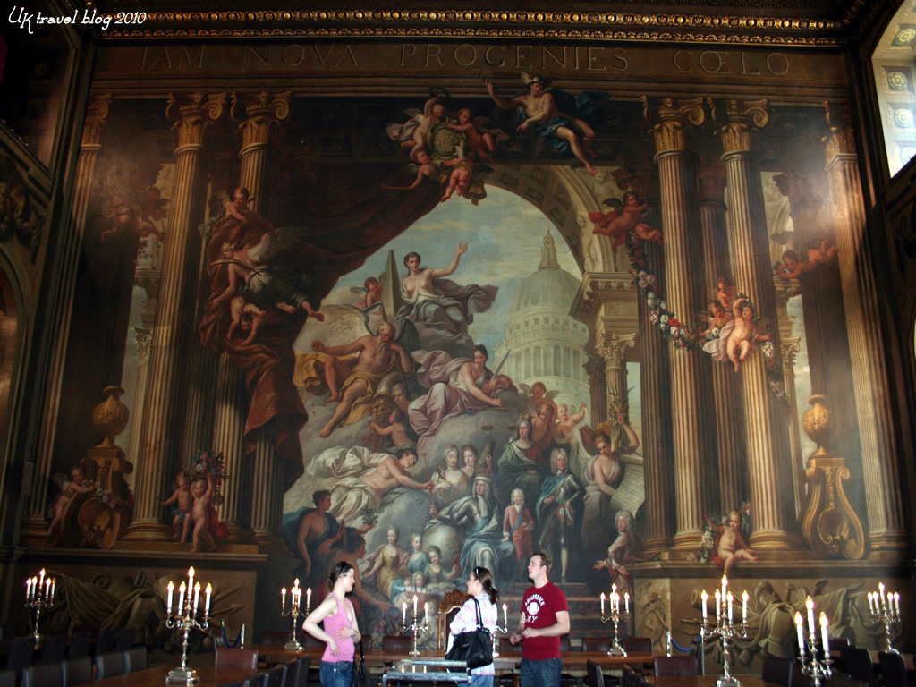 - The Painted Hall in The Old Royal Naval College at Greenwich 6